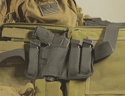 Brave Response gun holster with gun and ammo